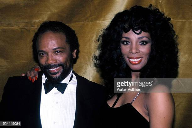 Quincy Jones Donna Summer at the Savoy Theater in New York City January 1983
