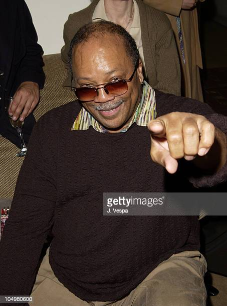 Quincy Jones during Angela Missoni hosts Private Champagne Brunch and Preview of Special Evening Collection for Academy Awards Week at Chateau...