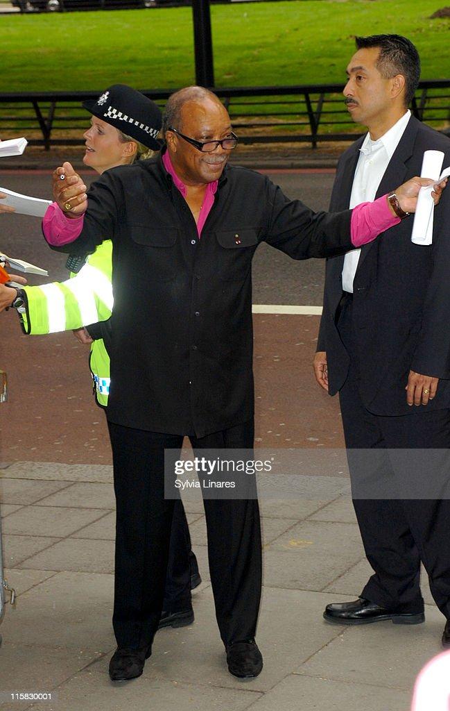 Quincy Jones during Ivor Novello Awards – Outside Arrivals at Grosvenor House in London, Great Britain.