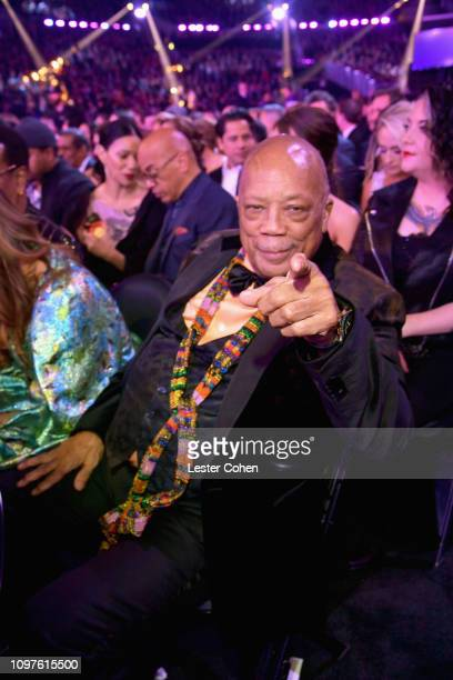 Quincy Jones during the 61st Annual GRAMMY Awards at Staples Center on February 10 2019 in Los Angeles California