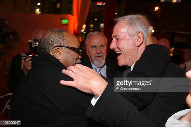 Quincy Jones George Schlatter and Producer Jerry Weintraub