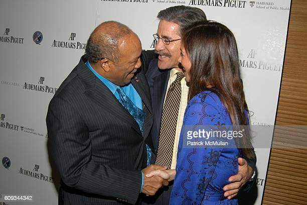 Quincy Jones Geraldo Rivera and Erica Levy attend Quincy Jones Q PRIZE Celebration hosted by AUDEMARS PIGUET at The Core Club on January 24 2007 in...