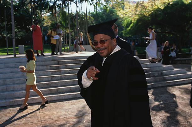 Quincy Jones in Graduation Gown
