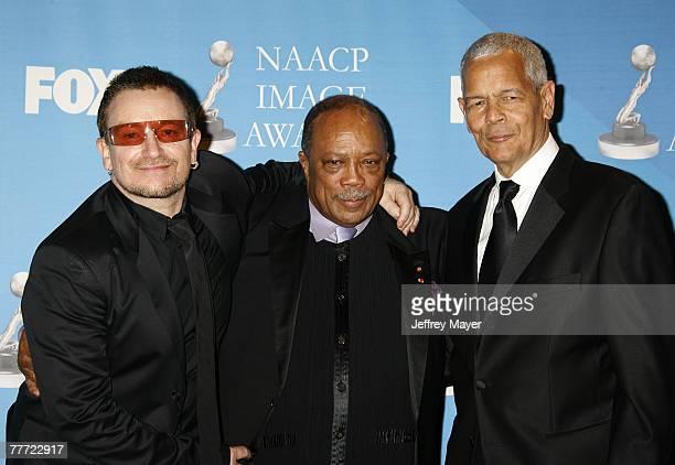 Quincy Jones, Julian Bond and Bono, recipient of the NAACP Chairman's Award