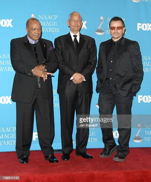 Quincy Jones, Julian Bond, NAACP Chairman and Bono