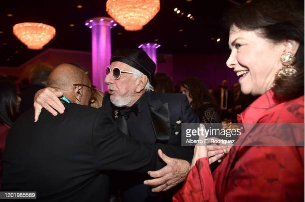 "Quincy Jones, Lou Adler and Sherry Lansing attend the Pre-GRAMMY Gala and GRAMMY Salute to Industry Icons Honoring Sean ""Diddy"" Combs on January 25,..."