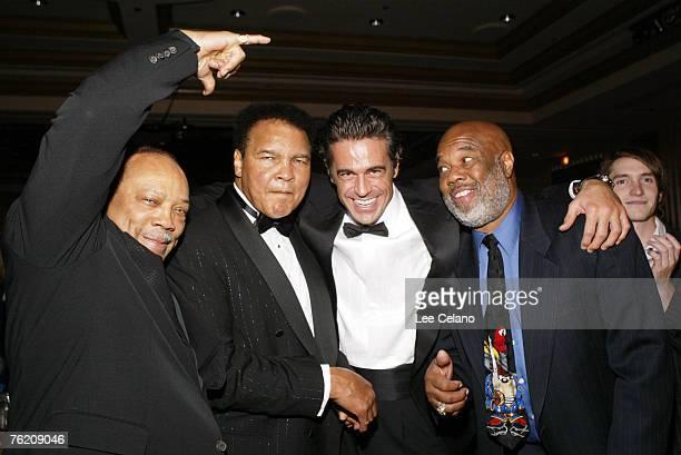 Quincy Jones Muhammad Ali Eduardo Costa and Howard Bingham