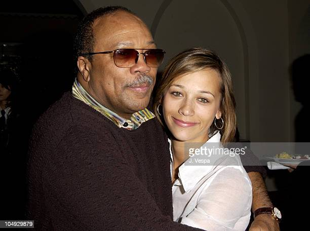 Quincy Jones Rashida Jones during Angela Missoni hosts Private Champagne Brunch and Preview of Special Evening Collection for Academy Awards Week at...