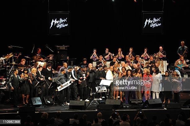 Quincy Jones 's 75th anniversary celebration in Montreux Switzerland on July 14th 2008 Quincy Jones Franco Ambrosetti Patti Austin Petula Clark Billy...