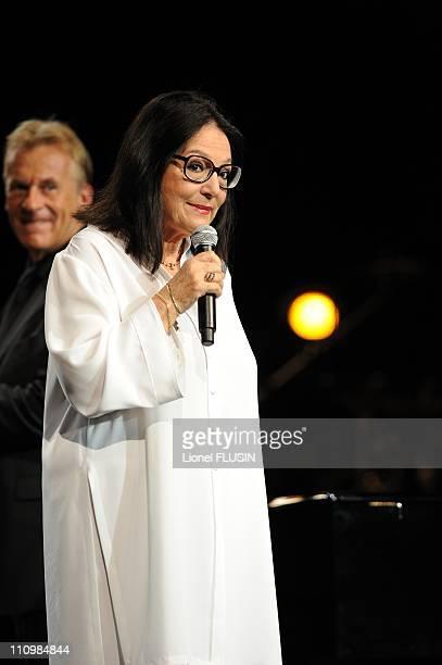 Quincy Jones 's 75th anniversary celebration in Montreux Switzerland on July 14th 2008 Nana Mouskouri