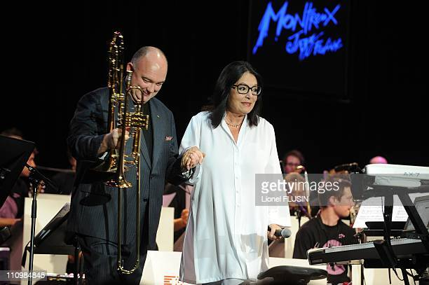 Quincy Jones 's 75th anniversary celebration in Montreux Switzerland on July 14th 2008 Nana Mouskouri