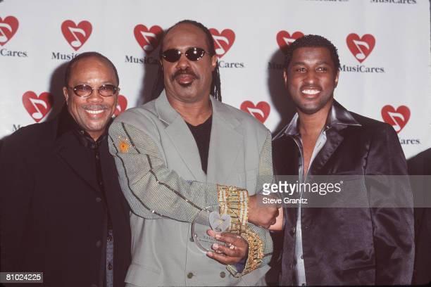 Quincy Jones Stevie Wonder and Kenny 'Babyface' Edmonds