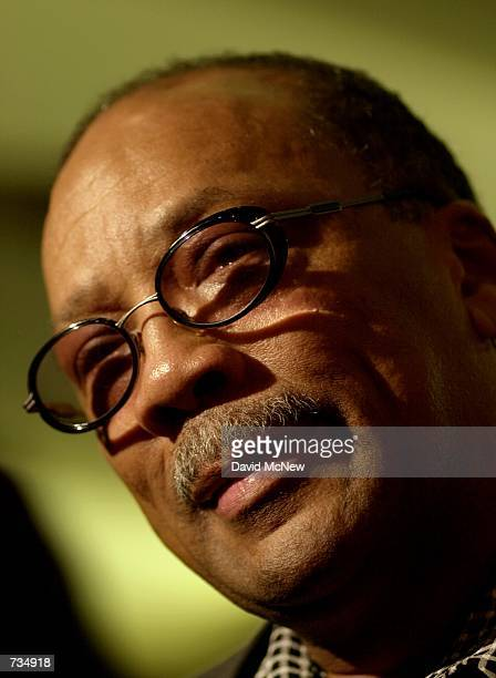 Quincy Jones who wrote the Academy Awardnominated film score for the 1967 movie In Cold Blood attends a reunion of the cast and crew November 10 2000...