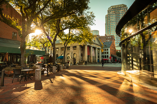 Quincy Market along the Freedom Trail in Boston USA 1150763097