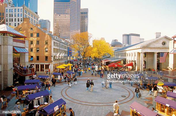 Quincy Market in Boston, Massachusetts, USA