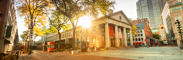 Quincy Market panorama along the Freedom Trail in Boston USA 1149570111