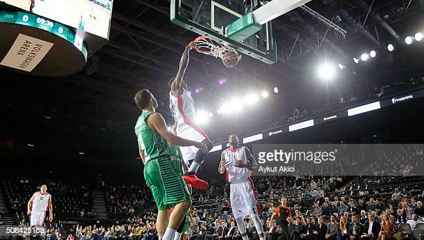 Quincy Miller #30 of Crvena Zvezda Telekom Belgrade in action during the Turkish Airlines Euroleague Basketball Top 16 Round 6 game between...
