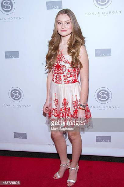 Quincy Morgan attends the Sonja Morgan New York Brands Launch at The Gabarron Foundation Carriage House Center For The Arts on February 17 2015 in...