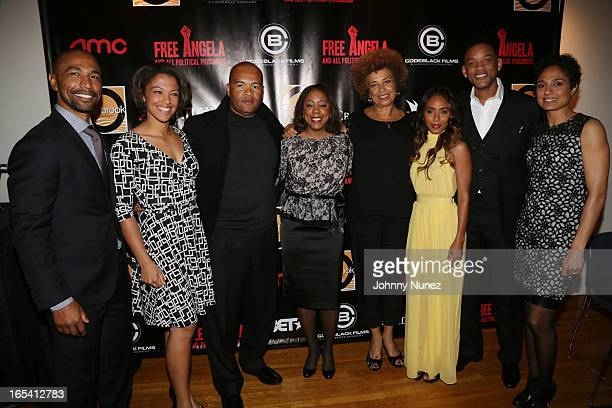 Quincy Newell Eisa Davis Jeff Clanagan Michelle GadsdenWilliams Angela Davis Jada Pinkett Smith Will Smith and Shola Lynch attend the Free Angela and...