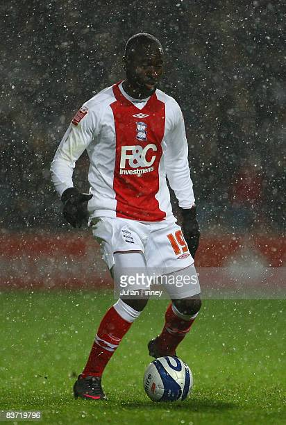 Quincy OwusuAbeyie of Birmingham in action during the CocaCola Championship match between Queens Park Rangers and Birmingham City at Loftus Road on...