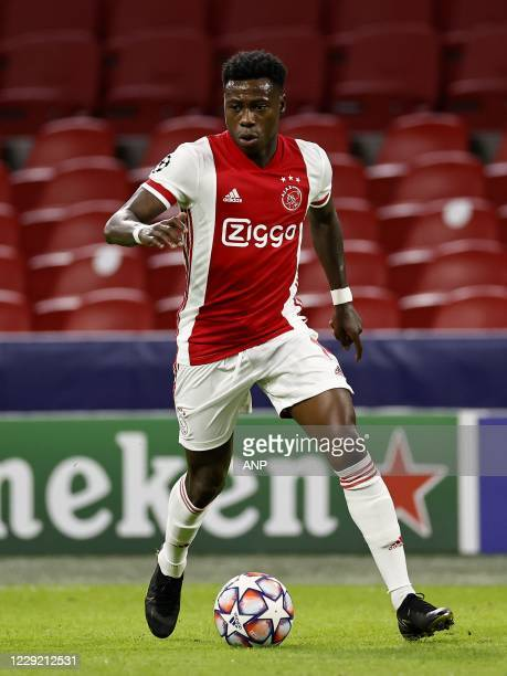 AMSTERDAM Quincy Promes of Ajax during the UEFA Champions League match in group D between Ajax Amsterdam and Liverpool FC at the Johan Cruijff Arena...