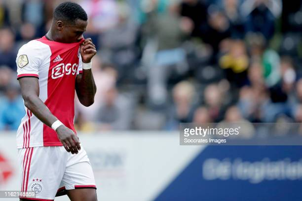 Quincy Promes of Ajax leaves the pitch injuried during the Dutch Eredivisie match between VVVvVenlo - Ajax at the Seacon Stadium - De Koel on August...