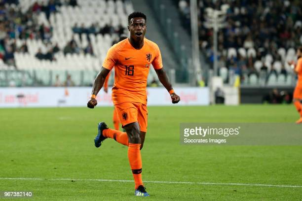 Quincy Promes of Holland celebrates 11 during the International Friendly match between Italy v Holland at the Allianz Stadium on June 4 2018 in Turin...
