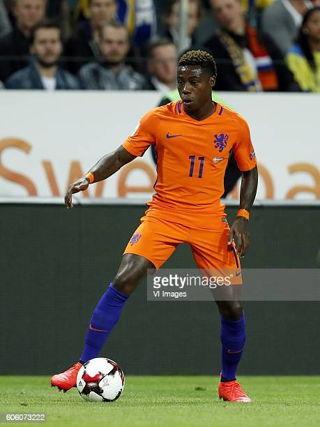 Quincy Promes of Holland during the FIFA World Cup 2018 qualifying match between Sweden and Netherlands on September 6 2016 at the Friends Arena in...