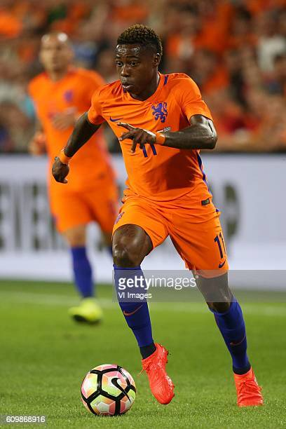 Quincy Promes of Holland during the friendly match between Netherlands and Greece on September 1 2016 at the Philips stadium in Eindhoven The...