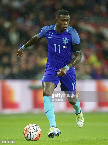 Quincy Promes of Holland during the friendly match between England and Netherlands on March 29 2016 at Wembley stadium in London England