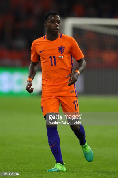 Quincy Promes of Netherlands in action during the international friendly match between Netherlands and Italy at Amsterdam ArenA on March 28 2017 in...