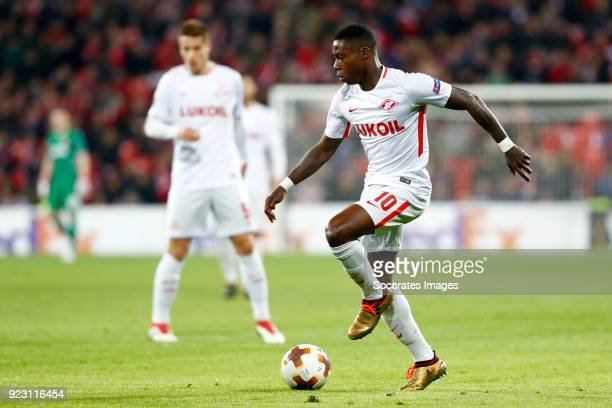 Quincy Promes of Spartak Moscow during the UEFA Europa League match between Athletic de Bilbao v Spartak Moscow at the Estadio San Mames on February...