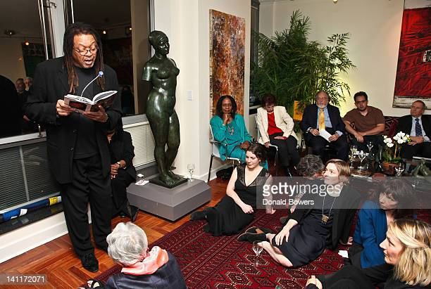 Quincy Troupe reads excepts from his poetry during the launch of the capital campaign to purchase the historic Mailer home in Provincetown hosted by...