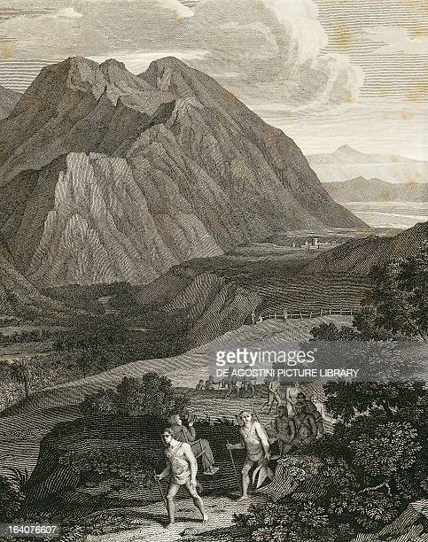 Quindio pass in the Andes engraving from Views of the Andes and monuments of the indigenous peoples of America by Alexander von Humboldt Paris 1810...