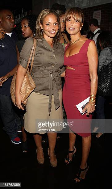 Quinn and Sylvia Rhone attend Kelly Rowland's private listening event at Hudson Hall on June 16 2010 in New York City