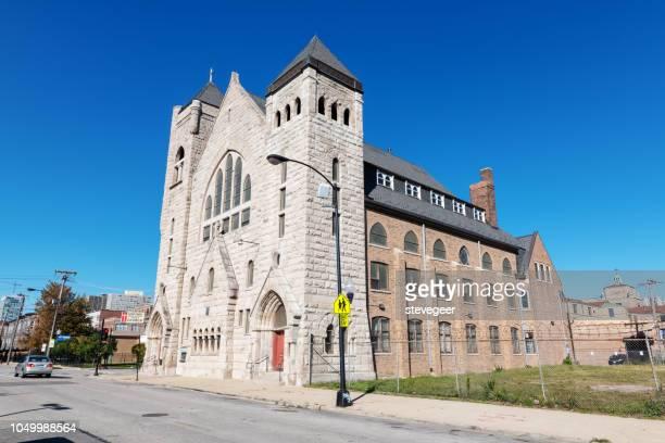 quinn kapel, african methodist episcopal church, chicago - methodist church stockfoto's en -beelden