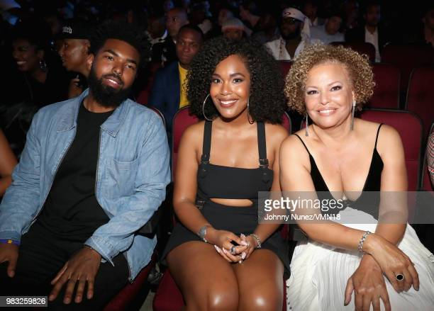 Quinn Coleman Ava Coleman and Debra Lee are seen at the 2018 BET Awards at Microsoft Theater on June 24 2018 in Los Angeles California