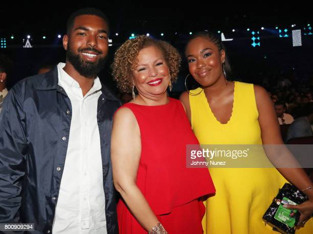 Quinn Coleman BET Networks Chairman and Chief Executive Debra Lee and Ava Coleman at 2017 BET Awards at Microsoft Theater on June 25 2017 in Los...