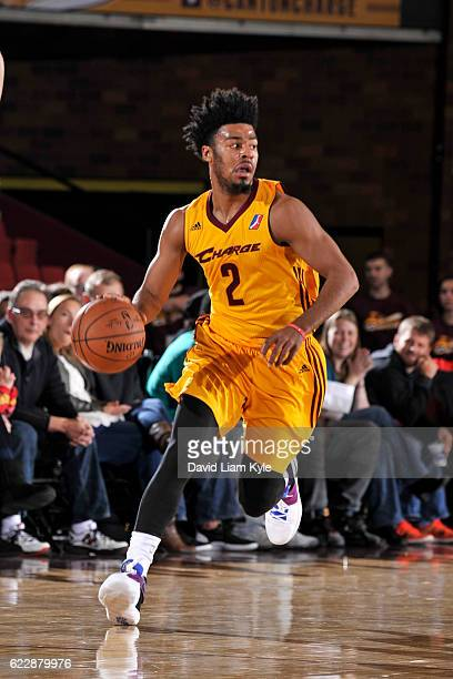 Quinn Cook of the Canton Charge brings the ball up the court against the Long Island Nets at the Canton Memorial Civic Center on November 12 2016 in...
