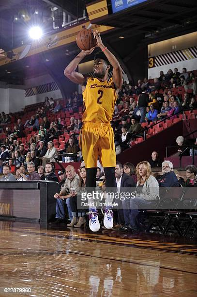 Quinn Cook of the Canton Charge goes up for the shot against the Long Island Nets at the Canton Memorial Civic Center on November 12 2016 in Canton...