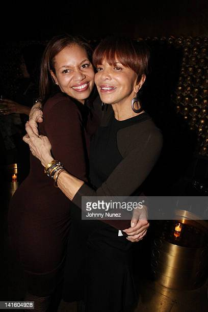 Quinn Rhone and Sylvia Rhone attend Sylvia Rhone's surprise birthday party at Goldbar on March 11 2012 in New York City