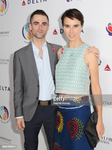 Quinn Tivey and Naomi Wilding attend The Elizabeth Taylor AIDS Foundation and mothers2mothers dinner at Ron Burkle's Green Acres Estate on October 24...