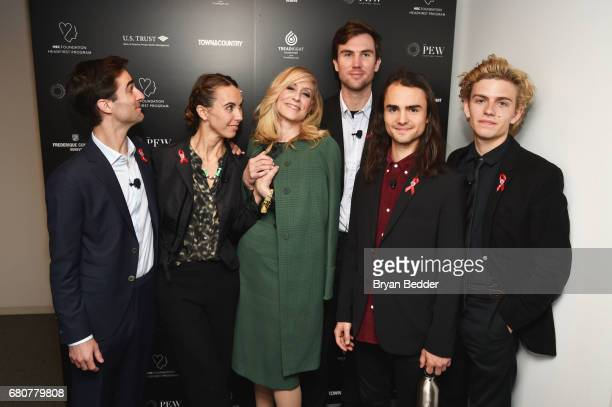 Quinn Tivey Naomi Wilding Judith Light Tarquin Wilding Rhys Tivey and Finn McMurray attend the 4th Annual Town Country Philanthropy Summit at Hearst...