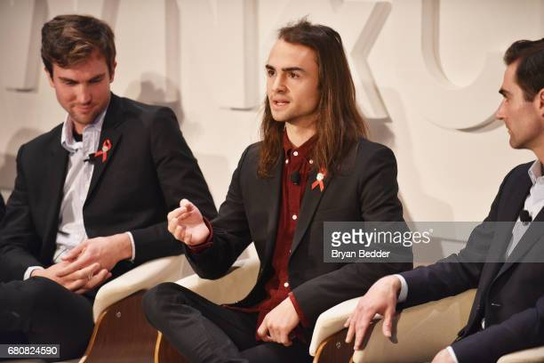 Quinn Tivey Rhys Tivey and Tarquin Wilding speak onstage during the 4th Annual Town Country Philanthropy Summit at Hearst Tower on May 9 2017 in New...