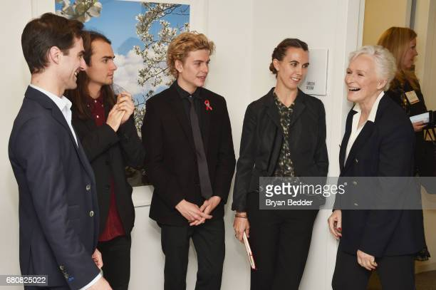 Quinn Tivey Rhys Tivey Finn McMurray Naomi Wilding of Elizabeth Taylor AIDS Foundation and actress Glenn Close attend the 4th Annual Town Country...