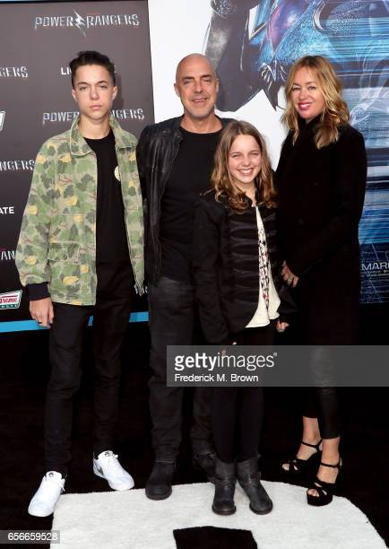 Quinn Welliver actor Titus Welliver Cora McBride Walling Welliver and Jose Stemkens at the premiere of Lionsgate's Power Rangers on March 22 2017 in...