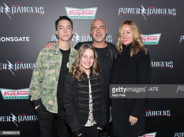 Quinn Welliver Cora McBride Titus Welliver and Jose Stemkens at The LA Premiere of Saban's Power Rangers presented by Lionsgate at Fox Bruin Theatre...