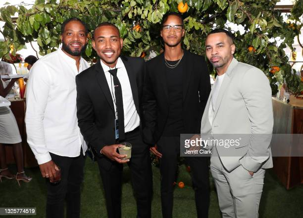 Quinntin St. Laurent, Andre Watson, Antonio Hairston, Mic Manuel attend the Culture Creators Innovators & Leaders Awards at The Beverly Hilton on...