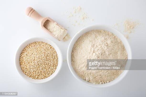 quinoa flour - quinoa stock pictures, royalty-free photos & images