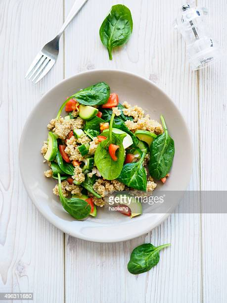 quinoa salad - salad stock pictures, royalty-free photos & images